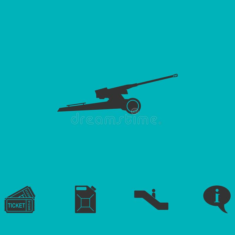 Howitzer εικονίδιο επίπεδο ελεύθερη απεικόνιση δικαιώματος