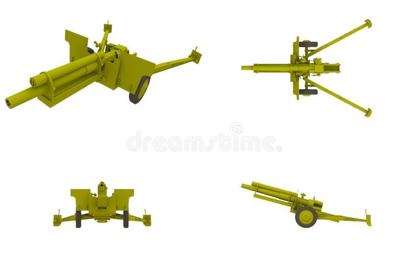 howitzer χιλ. πυροβόλων όπλων πεδί ελεύθερη απεικόνιση δικαιώματος
