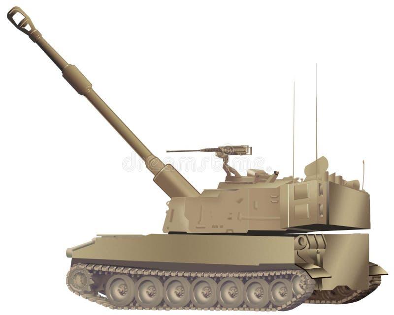 howitzer διανυσματική απεικόνιση