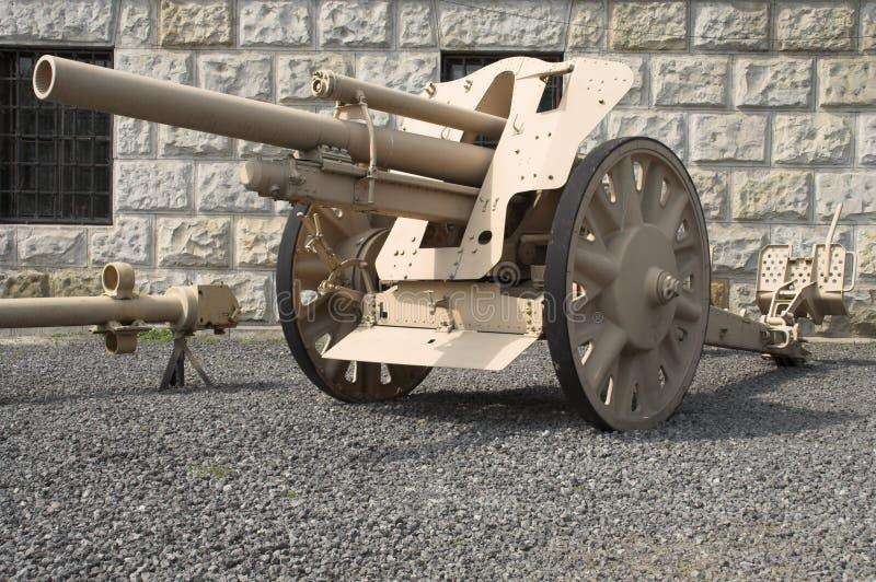 Howitzer alemão do campo imagens de stock