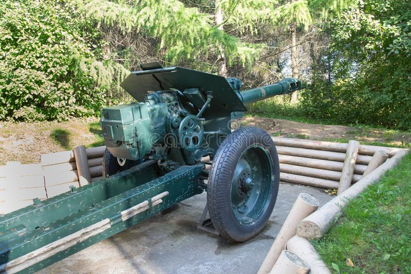 Howitzer 152 mm sample 1943, the USSR. Military equipment. Of the Second world war royalty free stock image