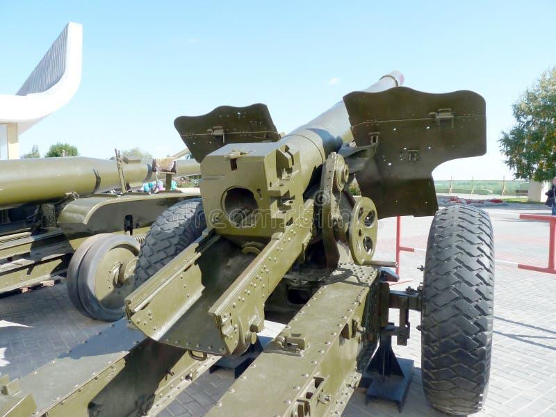 Howitzer. Soviet gun-howitzer of times of World War II royalty free stock photo