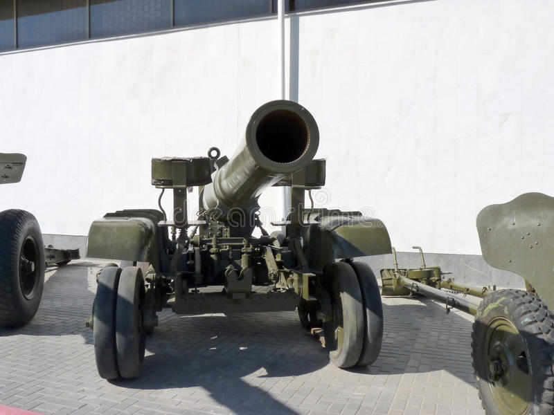 Howitzer. Soviet gun-howitzer of times of World War II royalty free stock photography