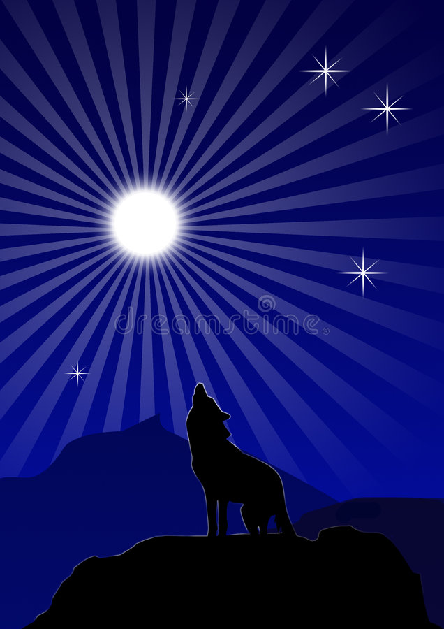 howl νύχτα διανυσματική απεικόνιση