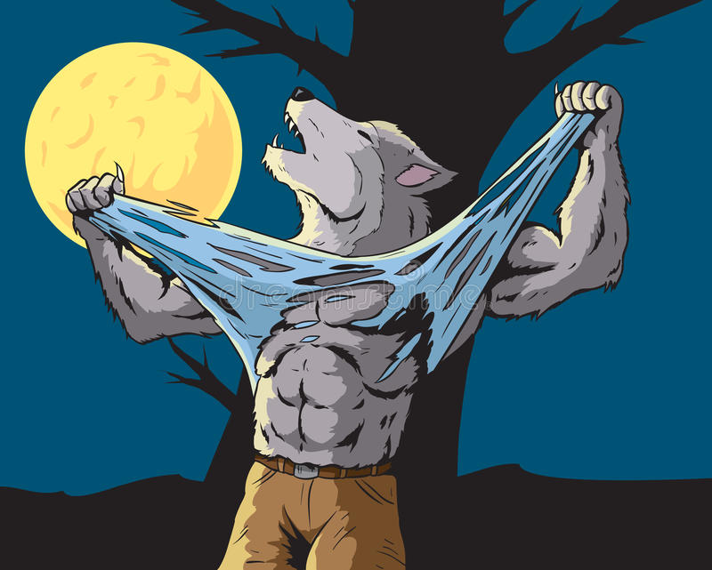 Howling Werewolf. Illustration of a howling werewolf stock illustration
