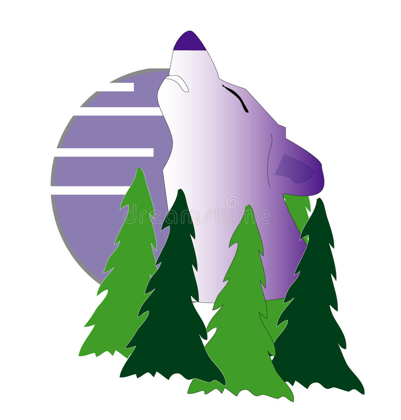 Howling Wolf vector illustration
