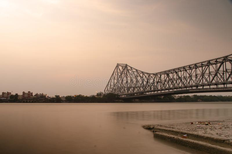Howrah-Brücke stockfotografie
