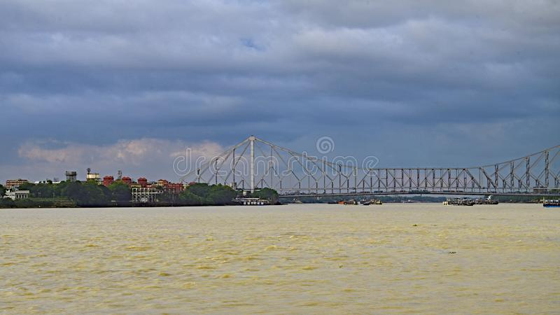 Howrah-Brücke alias Rabindra Setu stockbild