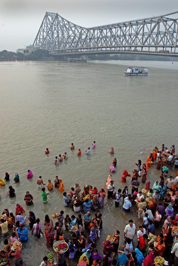 Howrah-Brücke von Kolkata stockfoto