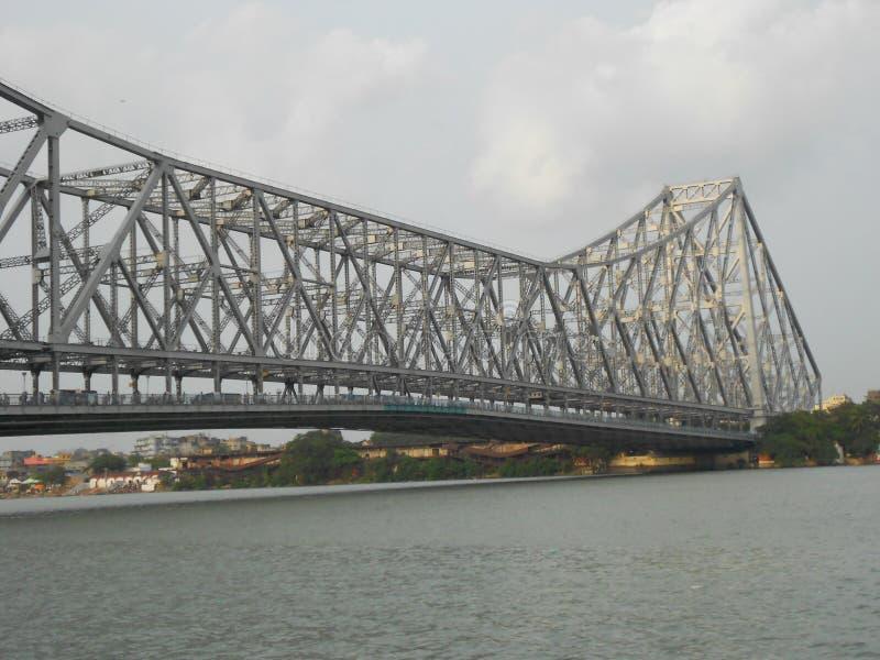 Howrah-Brückenmarkstein von Kolkata lizenzfreie stockbilder
