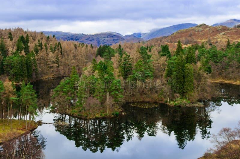 Hows de Cumbria Tarn do distrito do lago fotografia de stock royalty free
