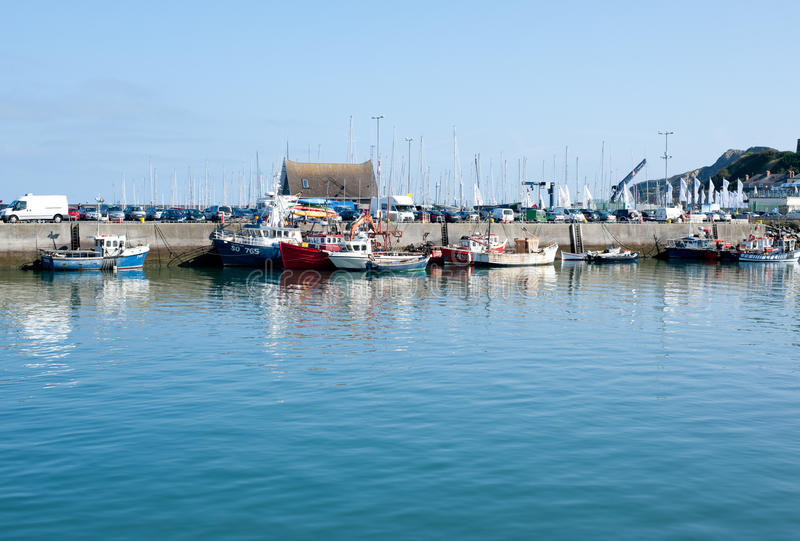 Howth港口,都伯林,爱尔兰 免版税图库摄影
