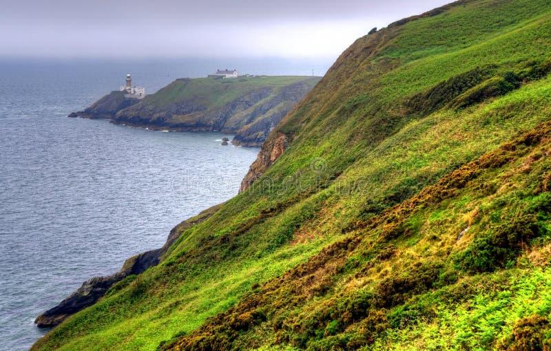 Howth Cliff Walk fuera de Dublín, Irlanda foto de archivo