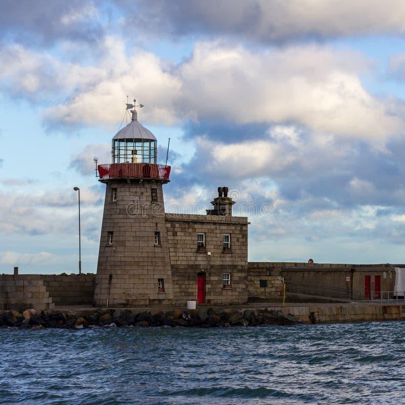 Howth latarnia morska w Irlandia zdjęcia royalty free