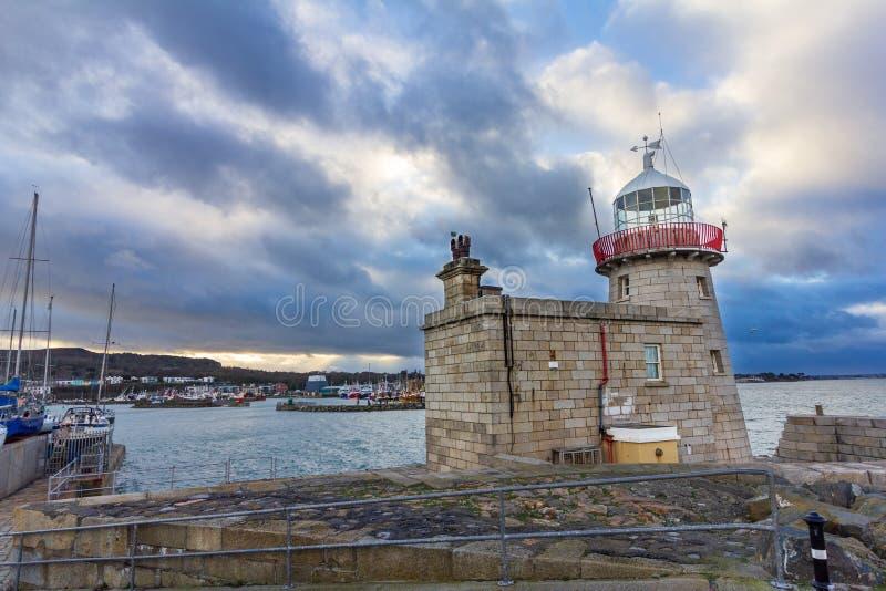 Howth latarnia morska w Irlandia obraz royalty free