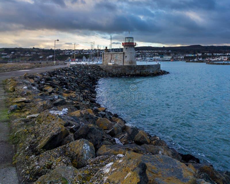 Howth latarnia morska w Irlandia zdjęcie stock