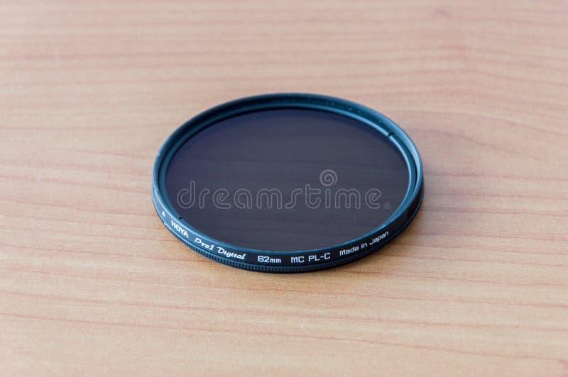 Hoya Pro1 ψηφιακό PLC MC 62 χιλ. Κυκλικό φίλτρο γυαλιού πόλωσης στοκ φωτογραφία με δικαίωμα ελεύθερης χρήσης