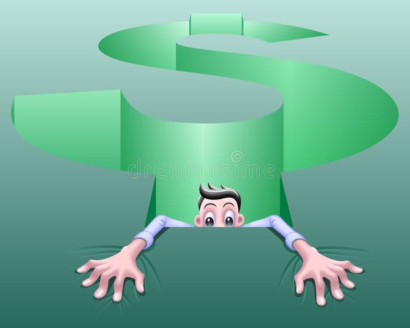 Hoyo del dinero ilustración del vector