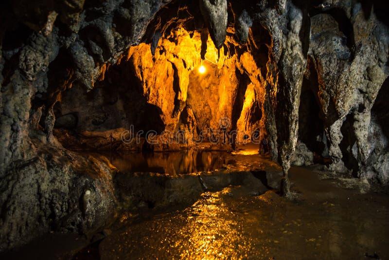 Hoyop Hoyoan Cave, Camalig, Albay.  royalty free stock images