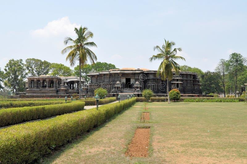 Hoysaleshwara Hindoese tempel, Halebid, India royalty-vrije stock afbeeldingen