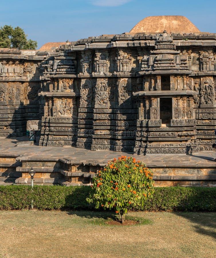 Hoysaleshwara Hinduska świątynia, Halebid, Karnataka, India zdjęcie stock