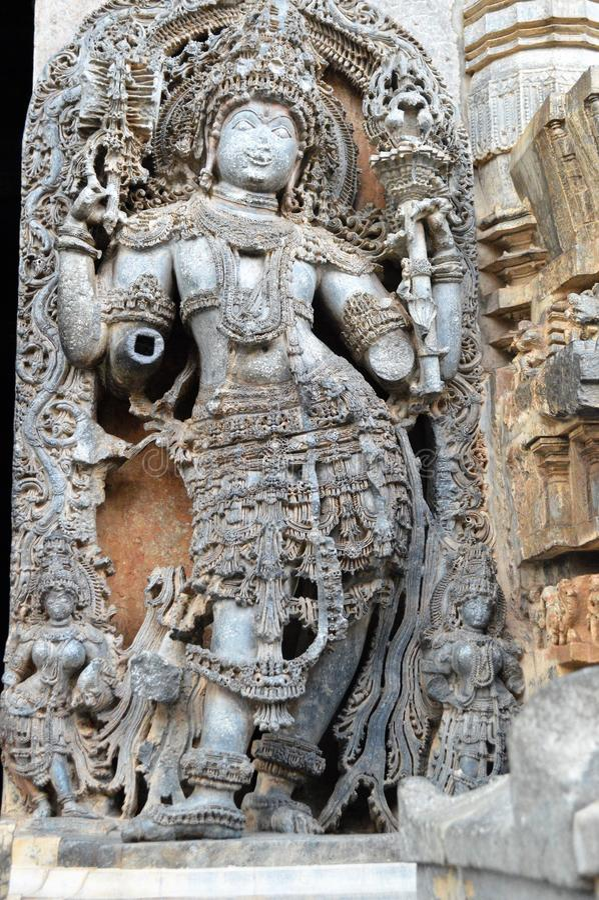 Hoysaleswara-Tempel, Halebidu stockfotos