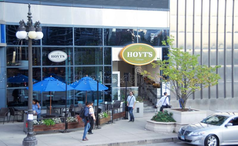 Hoyt ` s Chicago, IL royalty-vrije stock foto's