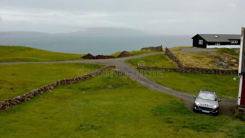 Hoyvík Faroe Islands stock image