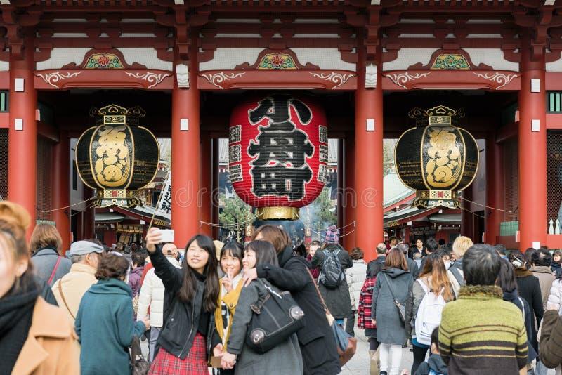Hozomon, висок Asakusa Senso-ji, токио - Япония стоковое изображение