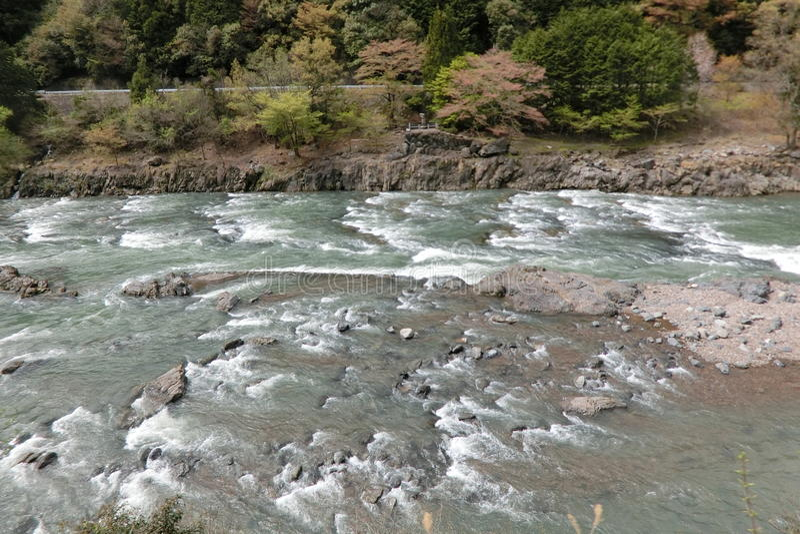 Hozugawa на Киото Японии стоковое фото rf