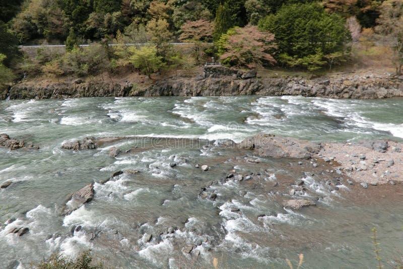 Hozugawa a Kyoto Giappone fotografia stock libera da diritti