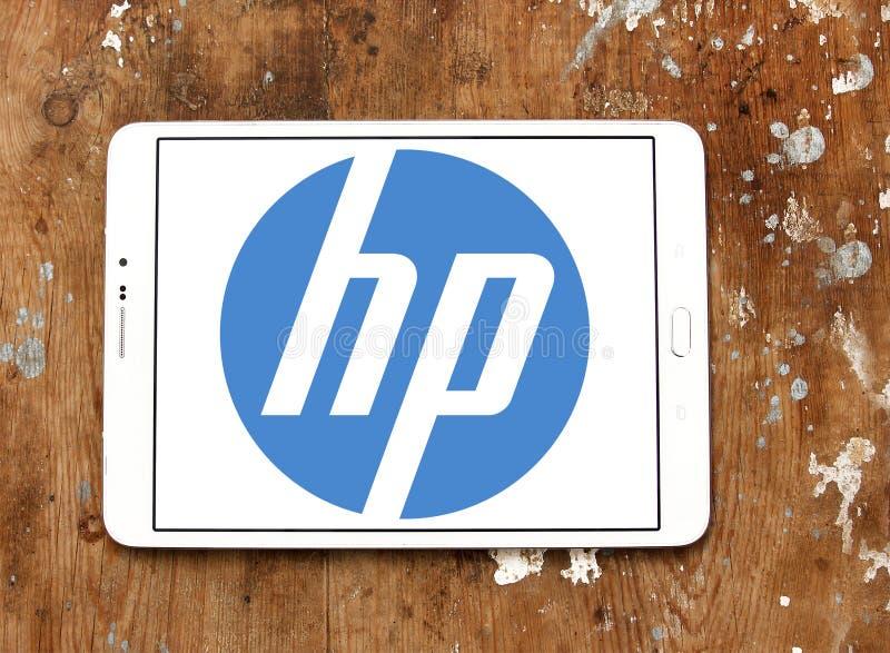 Hp logo royalty free stock photo