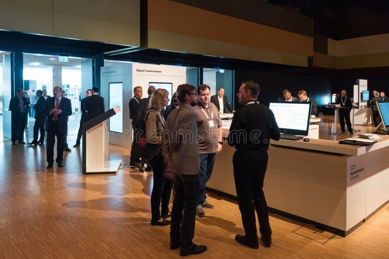 HPE bevordert hun digitale transformatieworkshops stock afbeelding