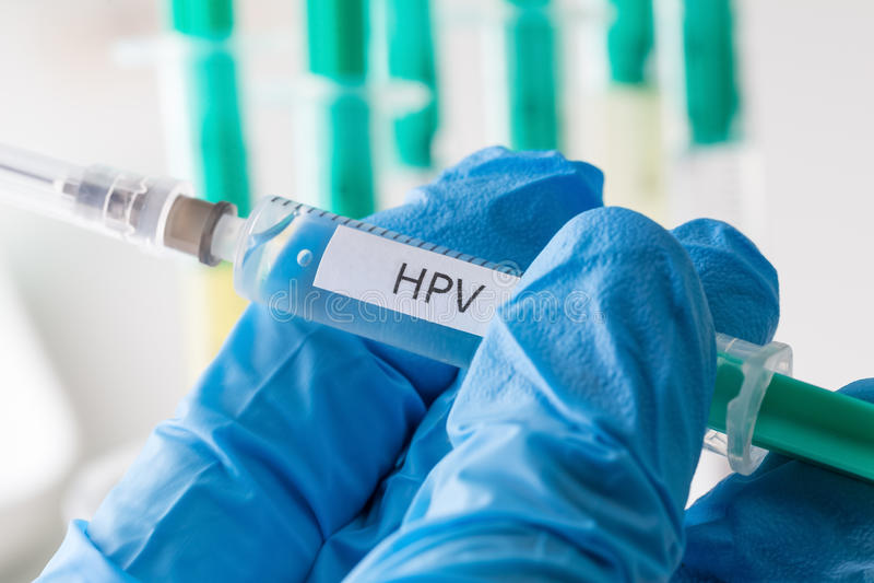Hpv vaccinering royaltyfria bilder