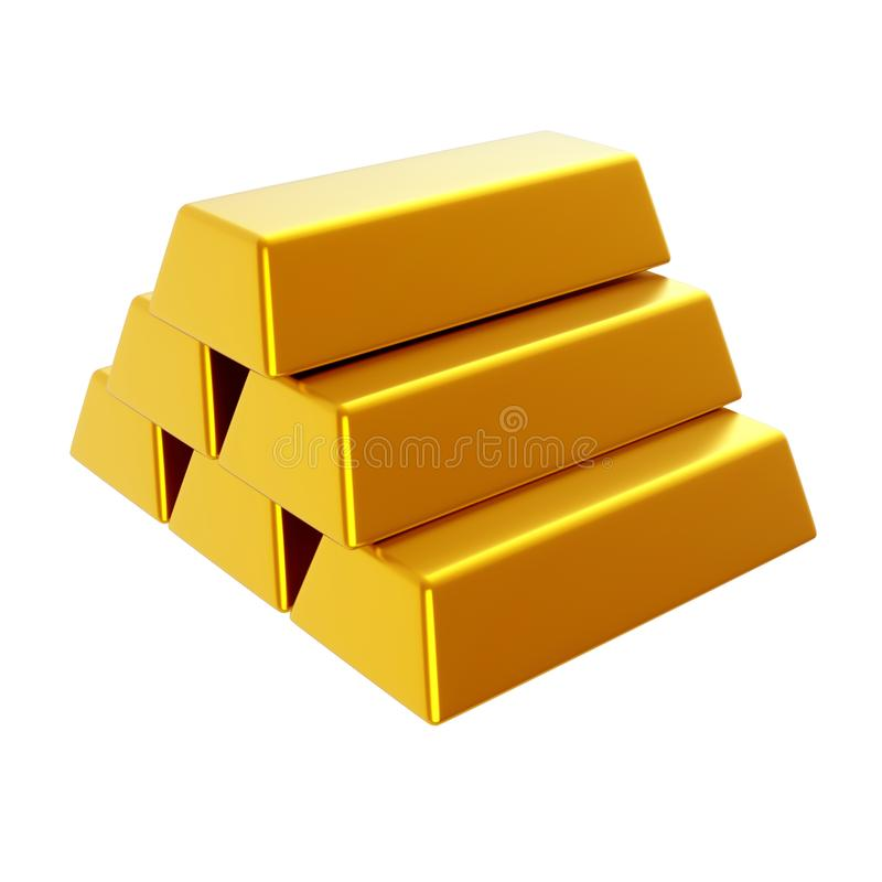 hq золота штанг 3d представляет ультра иллюстрация 3d представляет стоковые изображения