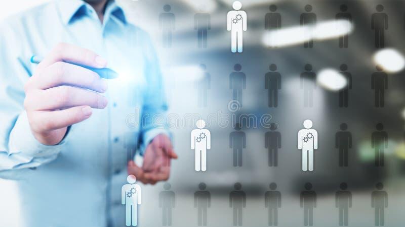 HR人力调配,对组织工作,补充,天分要,思慕,就业企业概念 库存照片