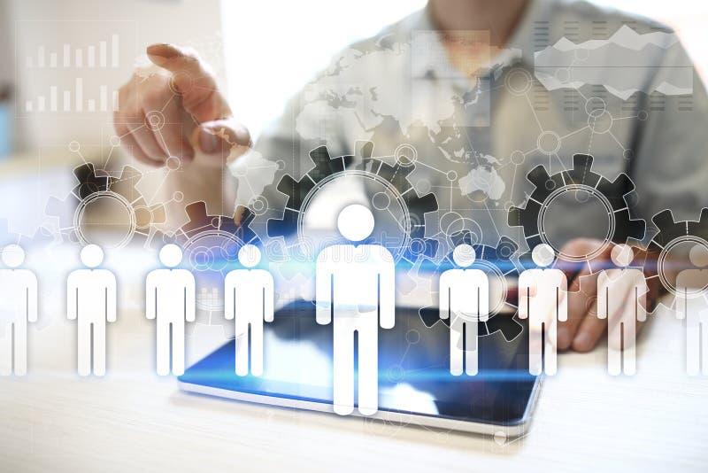 HR人力调配 补充,聘用,对组织工作 组织结构 免版税库存照片