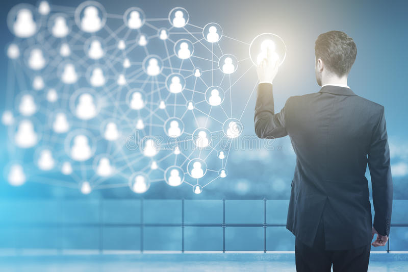 HR和网络概念 向量例证