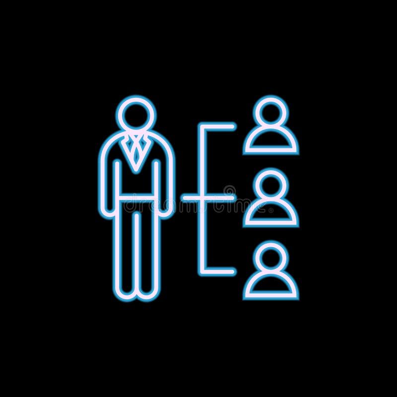 hr在霓虹样式的流程图线象 一HR汇集象可以为UI, UX使用 库存例证