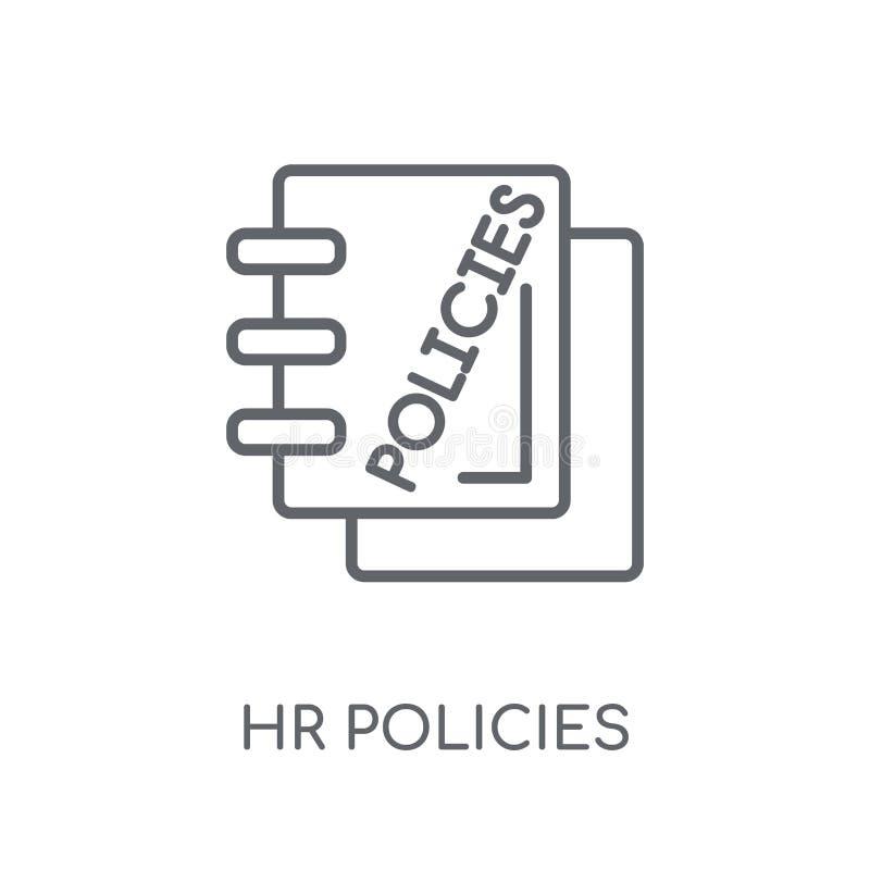 hr政策线性象 现代概述hr政策商标概念 向量例证