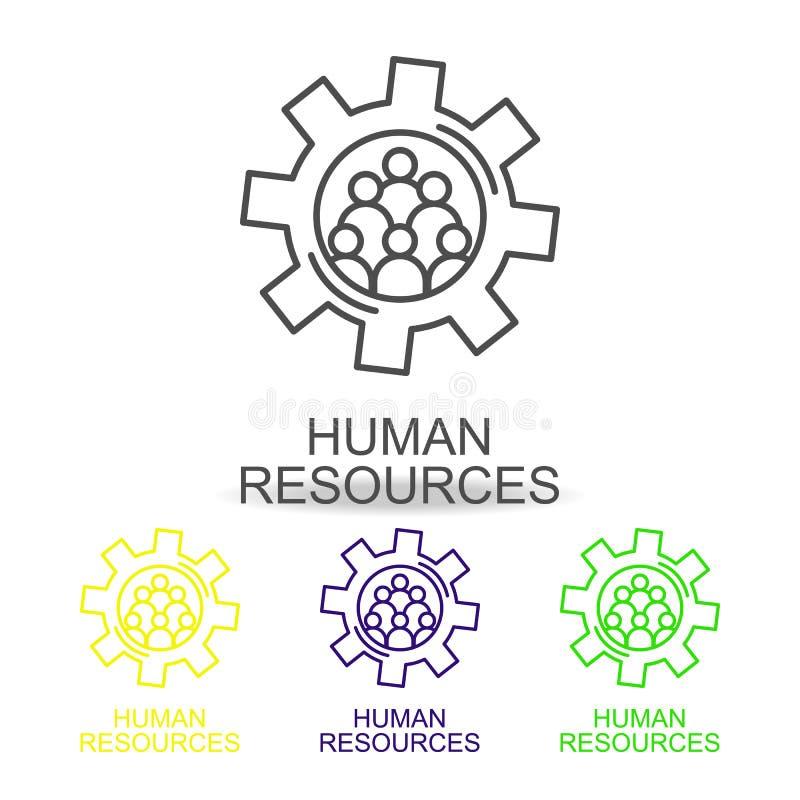 hr流程图线颜色象 人力资源象的元素流动概念和网apps的 稀薄的线hr流程图象能 向量例证