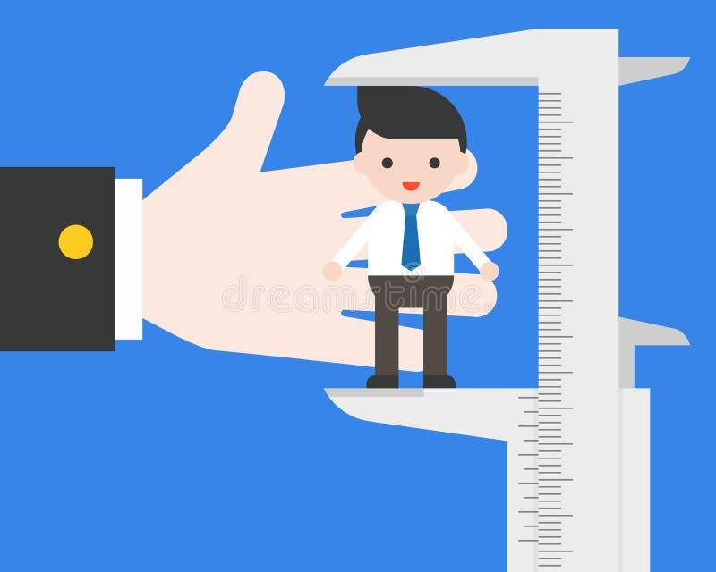 hr的一臂之力使用微调测量商人的,评估a 向量例证