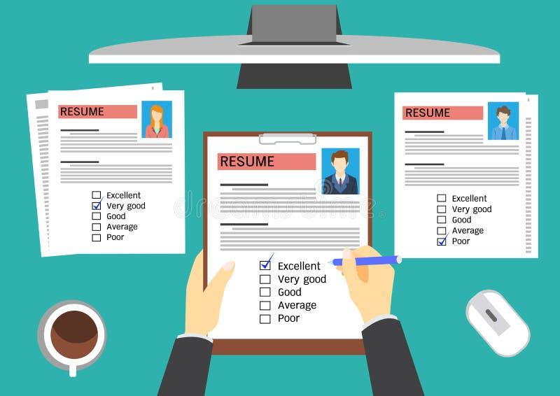 HR经理评估的候选人 向量例证