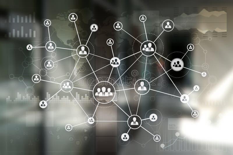HR działów zasobów ludzkich zarządzanie Rekrutacja, Zatrudniający, Drużynowy budynek Organisation struktura ilustracja wektor