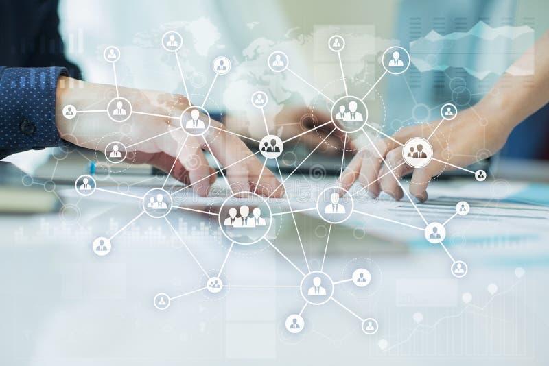 HR Human resources management. Recruitment, Hiring, Team Building. Organisation structure. royalty free illustration