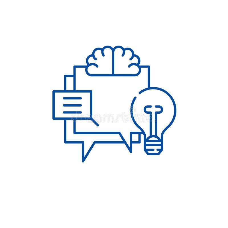 Hr ikony metryczny kreskowy pojęcie Hr metryczny płaski wektorowy symbol, znak, kontur ilustracja ilustracja wektor