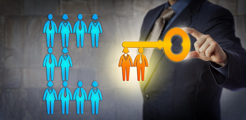 HR kierownik Otwiera potencjał pracy drużyna zdjęcie stock