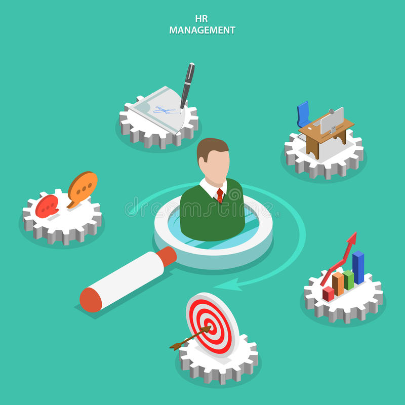 HR management flat isometric vector concept. royalty free illustration