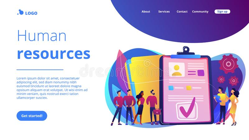 HR Software Concept Banner Header  Stock Vector - Illustration of