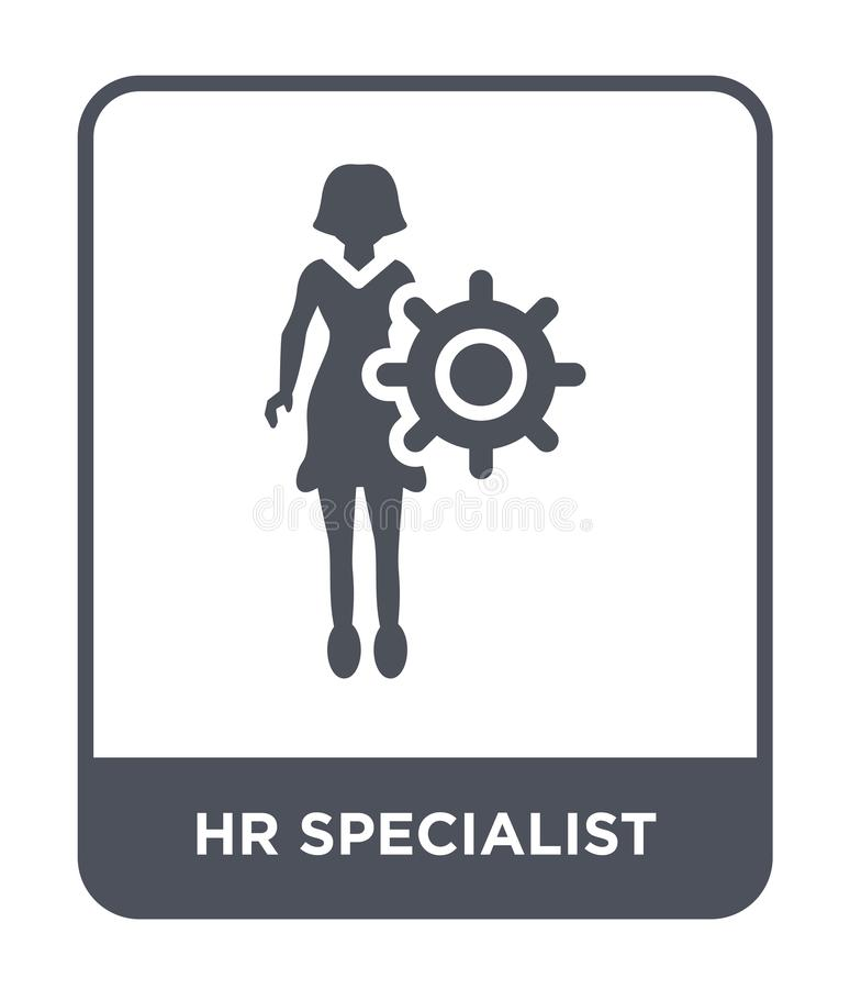 hr specialist icon in trendy design style. hr specialist icon isolated on white background. hr specialist vector icon simple and stock illustration
